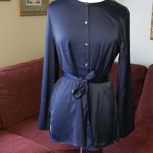 Banana republic navy blouse